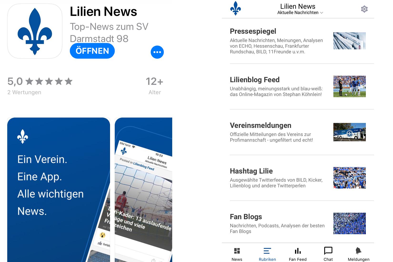 NEU: Lilien News – ein Verein, eine App, alle wichtigen Infos
