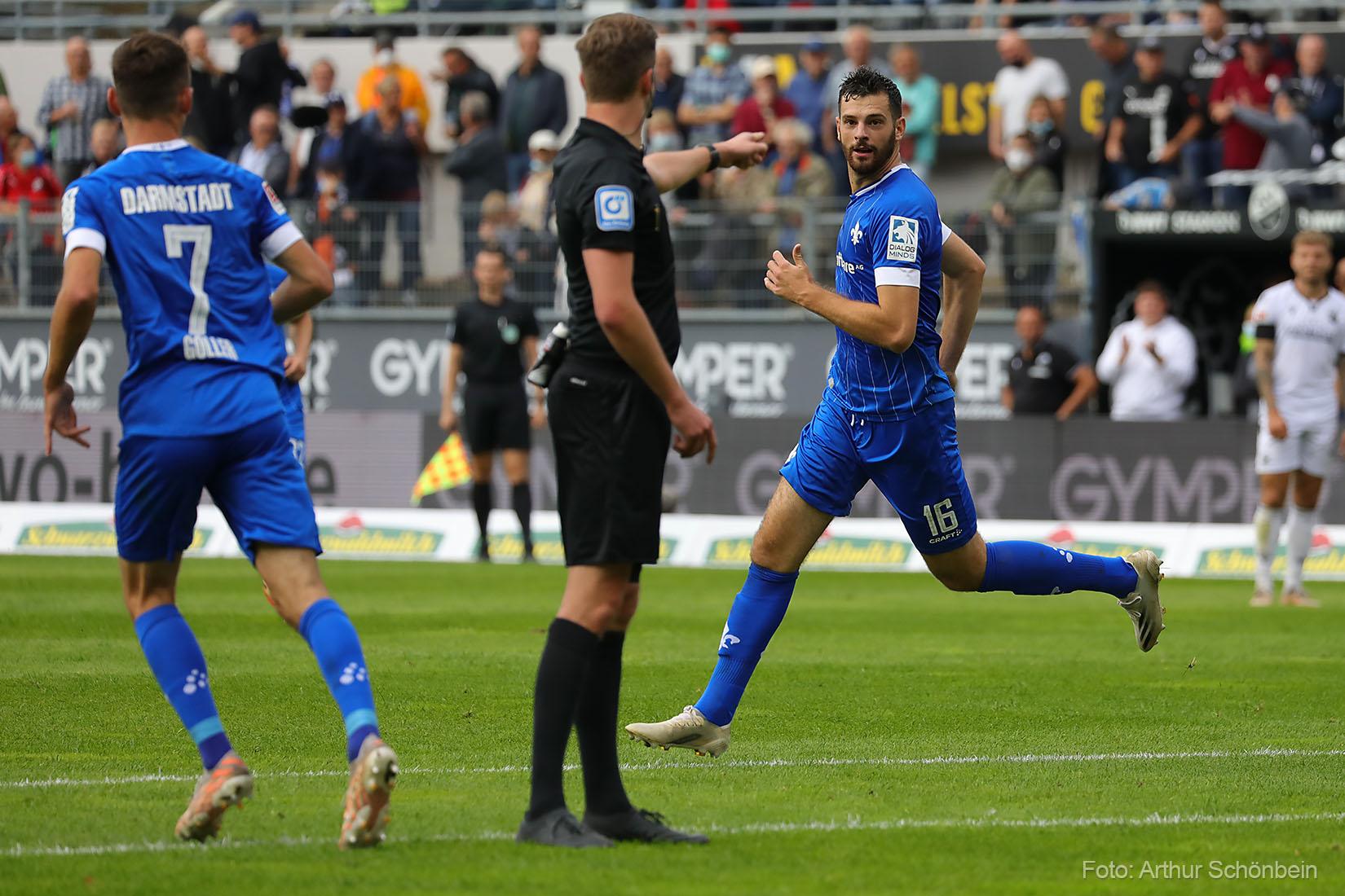 Luca Pfeiffer ist der Lilien-Spieler des 9. Spieltags